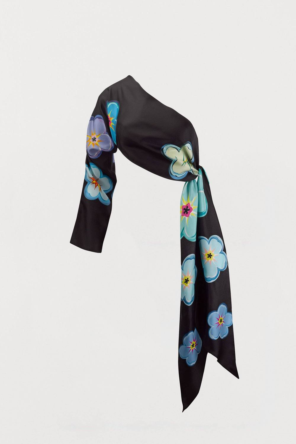 Forget-Me-Not Floral Silk Sleeved Scarf - Bianca Elgar