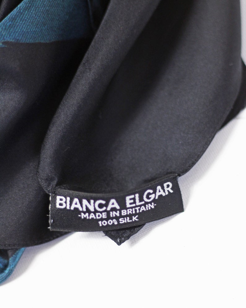 Multicolour Black Based -Silk Scarf - Medium - Bianca Elgar
