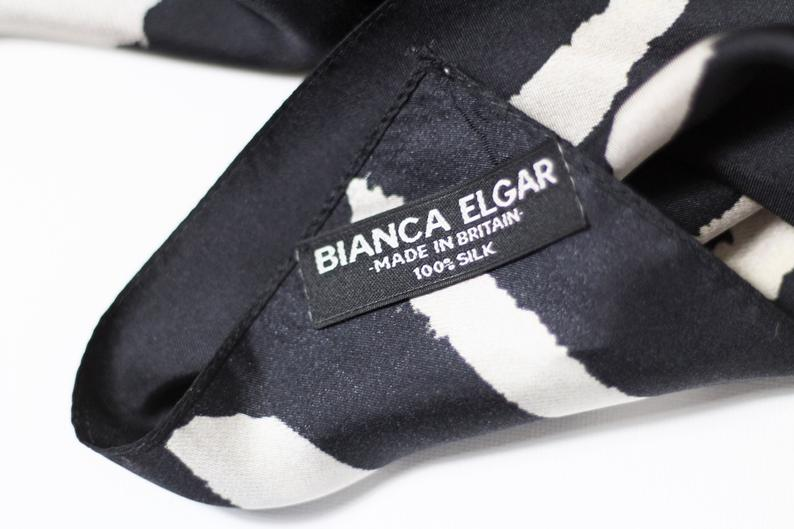 Monochrome Sploshes Black Based - Silk Scarf - Large - Bianca Elgar