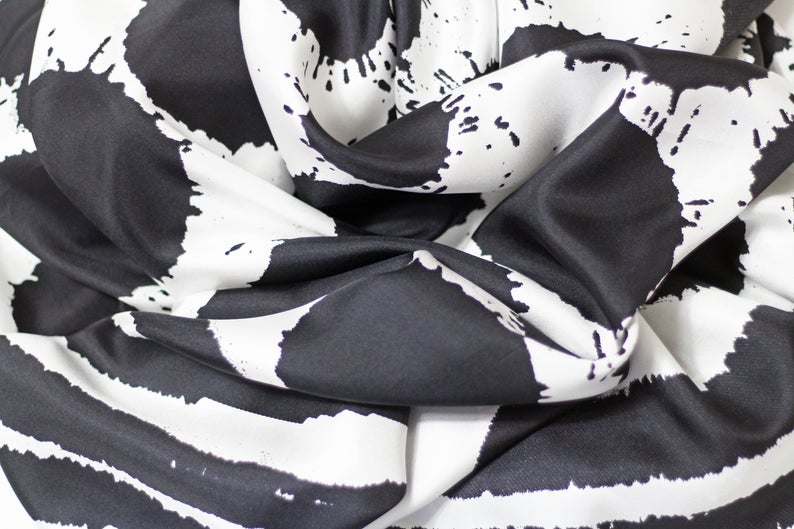 Sploshes White Based - Silk Scarf - Large - Bianca Elgar