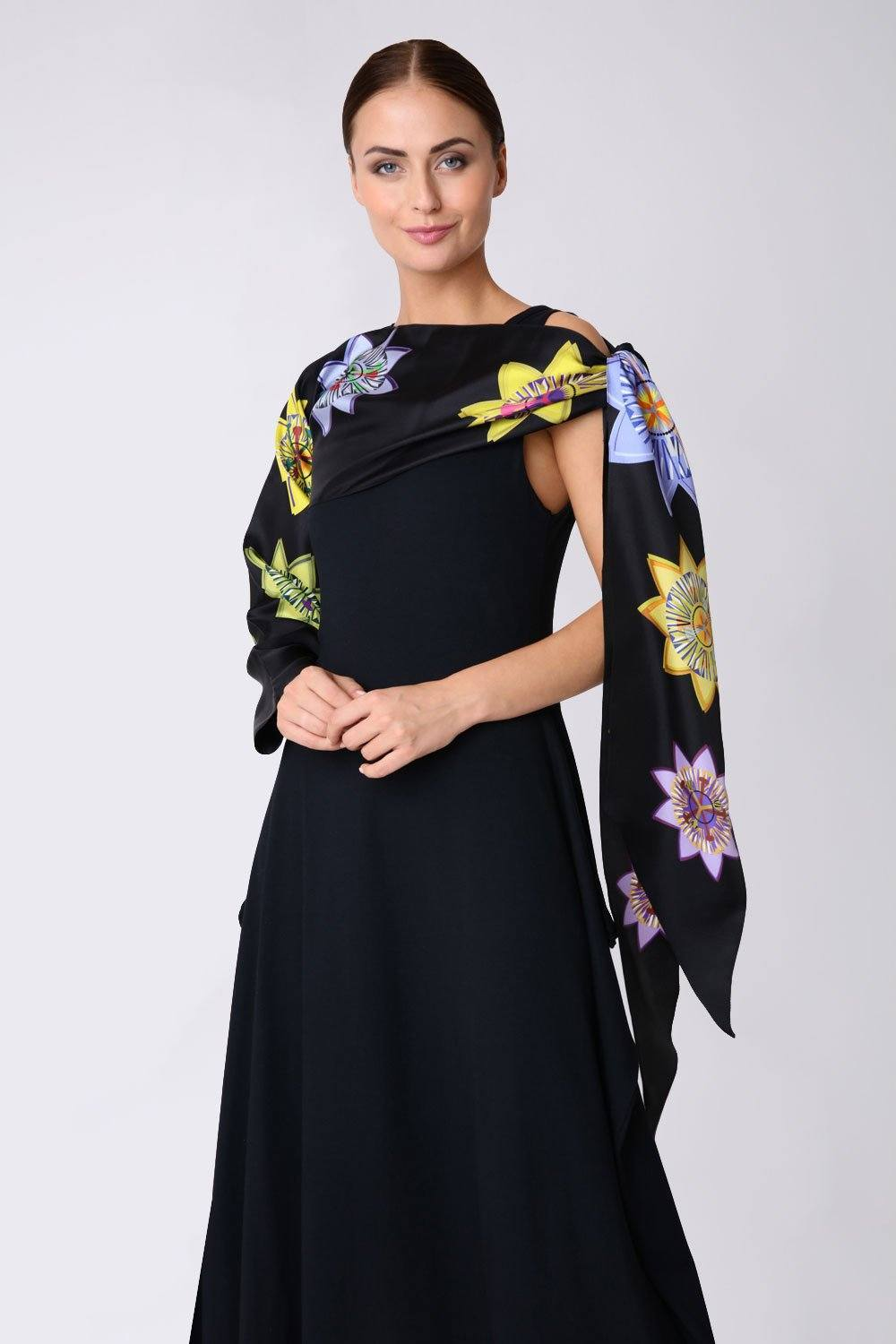 Passion Floral Silk Sleeved Scarf - Bianca Elgar