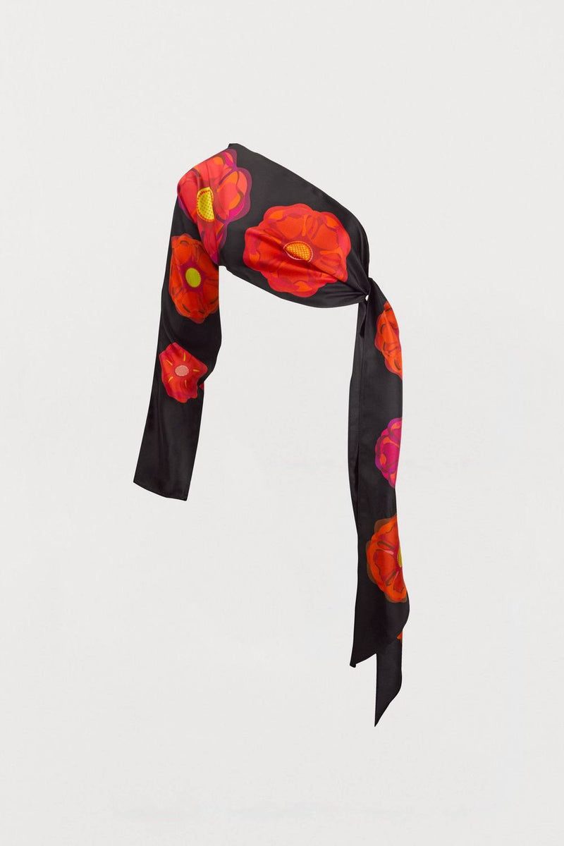 Rose Floral Silk Sleeved Scarf - Bianca Elgar