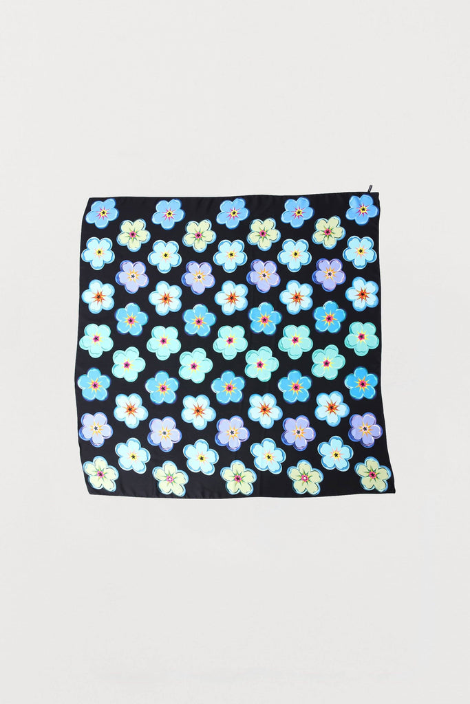 Forget-Me-Not Floral - Silk Scarf - Large - Bianca Elgar