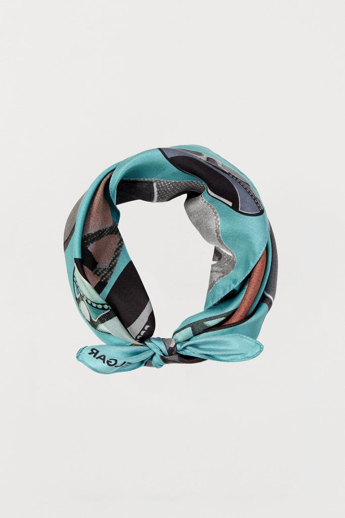 Light Blue Beads - Silk Scarf - Small - Bianca Elgar