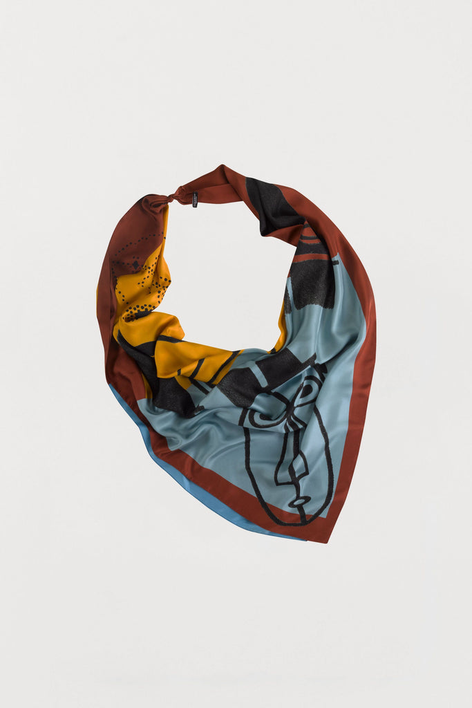 Men Print - Silk Scarf - Large - Bianca Elgar