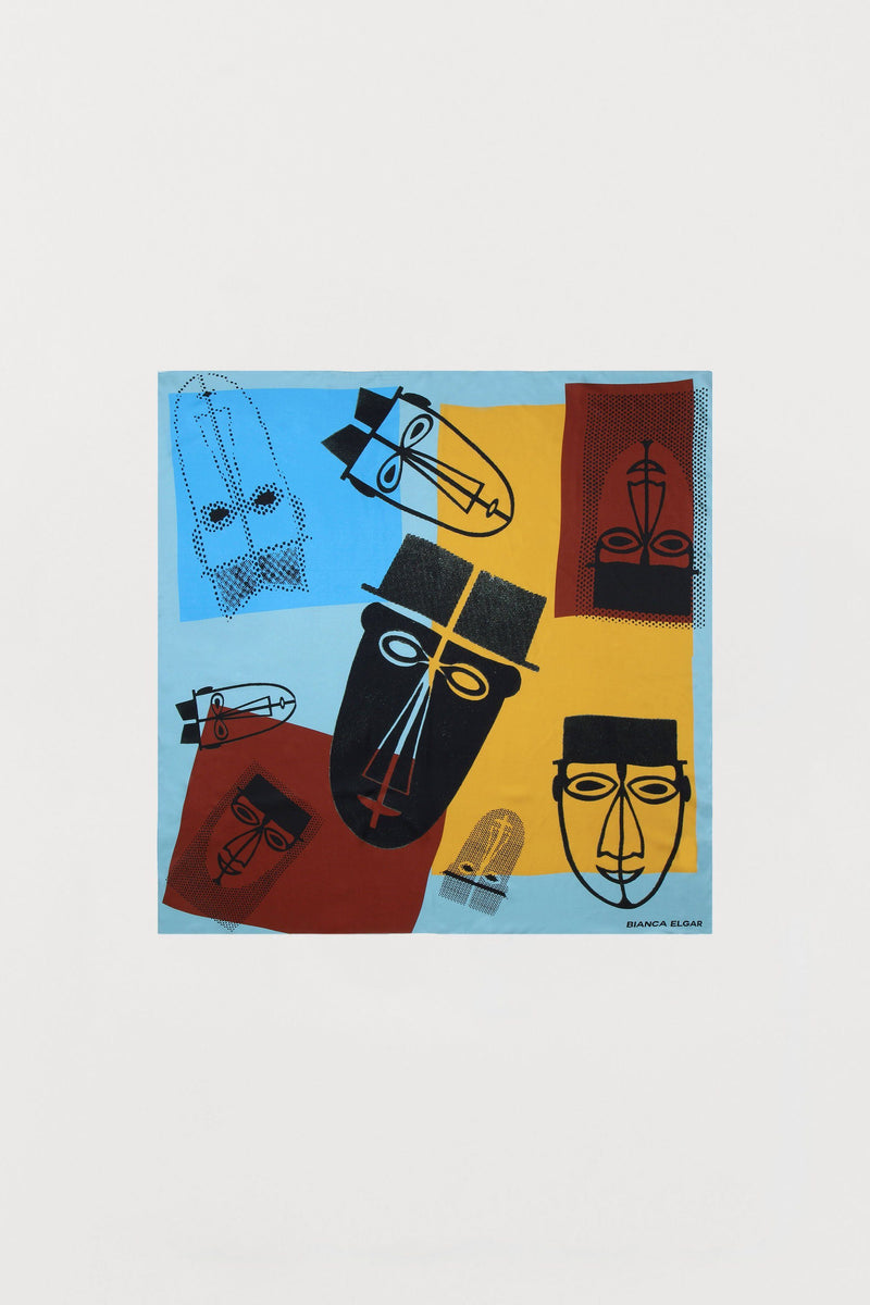 Men Print Silk Scarf - Medium - Bianca Elgar