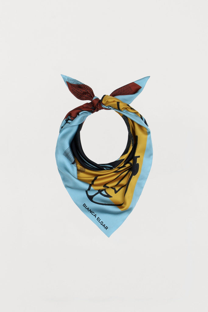 Men Print - Silk Scarf - Medium - Bianca Elgar
