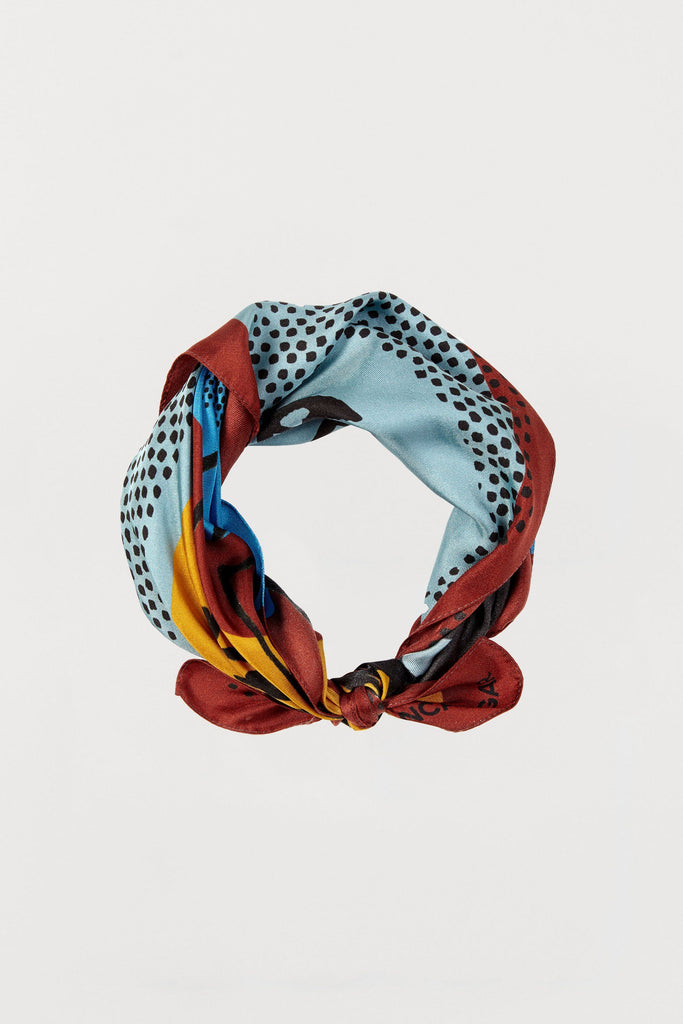 Men Print - Silk Scarf - Small - Bianca Elgar