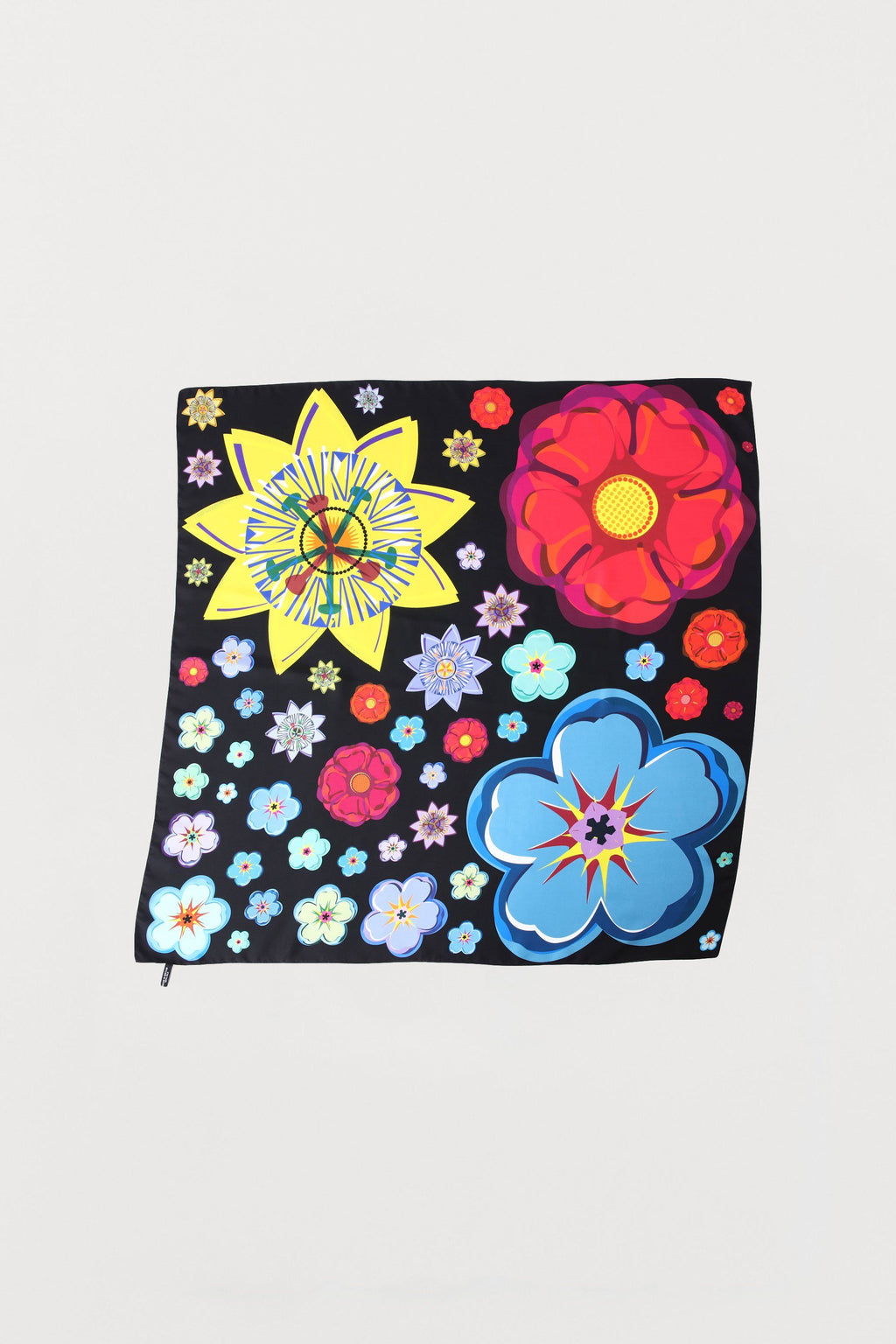 Mixed Flowers Silk Scarf - Medium - Bianca Elgar