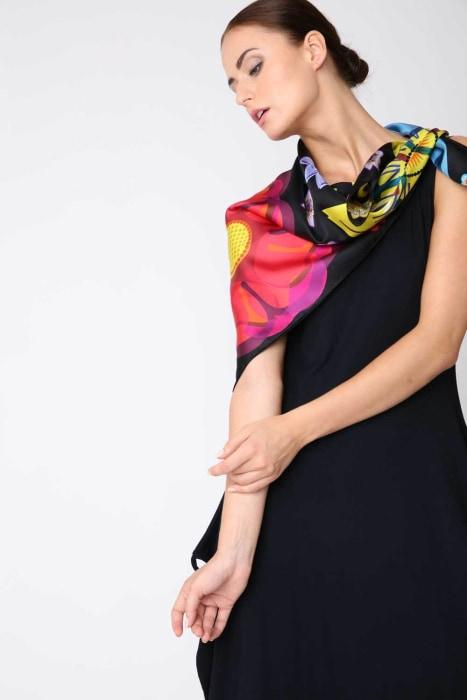 Mixed Flowers - Silk Scarf - Medium - Bianca Elgar