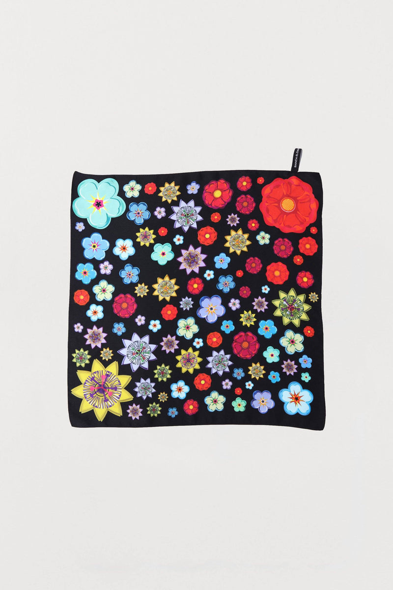 Mixed Flowers Silk Scarf - Small - Bianca Elgar