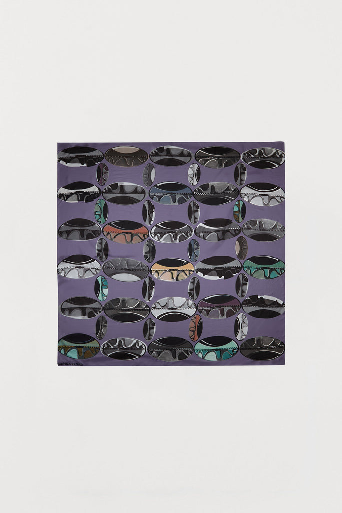 Purple Beads - Silk Scarf - Large - Bianca Elgar