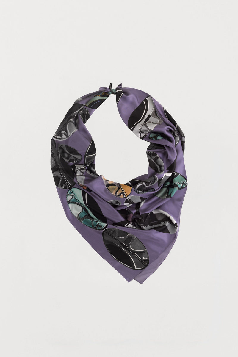 Purple Beads Silk Scarf - Large - Bianca Elgar