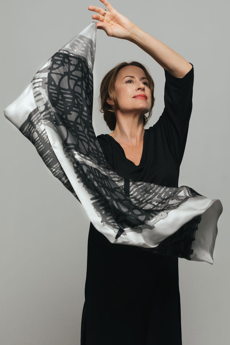 Threads Silk Scarf - Medium - Bianca Elgar