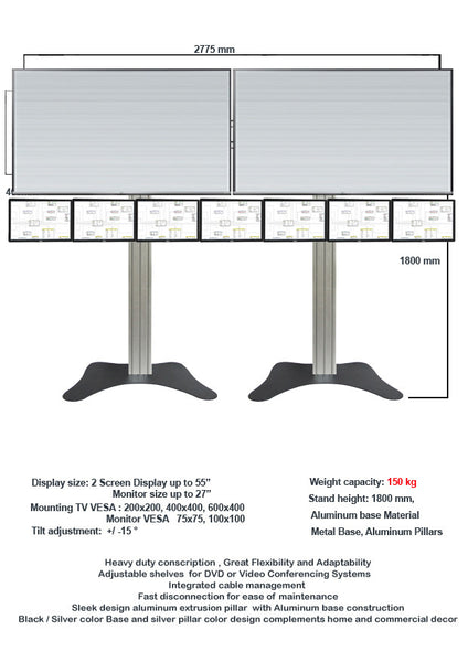 Modular TV & Monitor Display stands 01  - 1