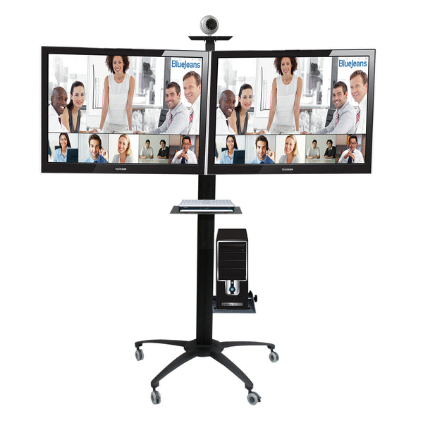 LCD Dual TV Floor Stand (UPC2)  - 1