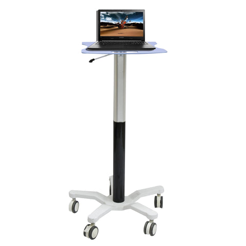 Sit Stand Gas Spring Based Laptop Cart (GSL-01)  - 1