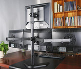 Freestanding Desk Stand for Quad Monitors 3 * 1 Array, (EF004T)