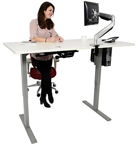 Single Motor Electric Adjustable Height R2 Sit-Stand Desk (SM1)