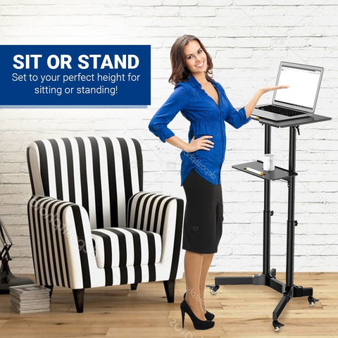 Mobile Laptop Desk Cart Height and Angle Adjustable Tilt Spliting Laptop Stand Table