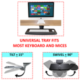 Adjustable Keyboard Tray with Height and Swivel Adjustments, (AKT01)