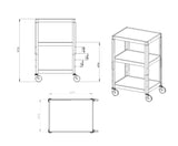 Multimedia stands and Audio Visual Carts C-34  - 5