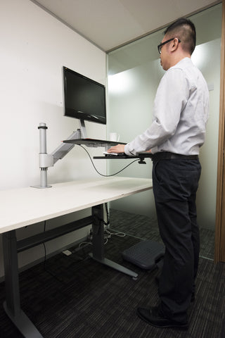 Sit Stand Riser Workstation Single Monitor RW