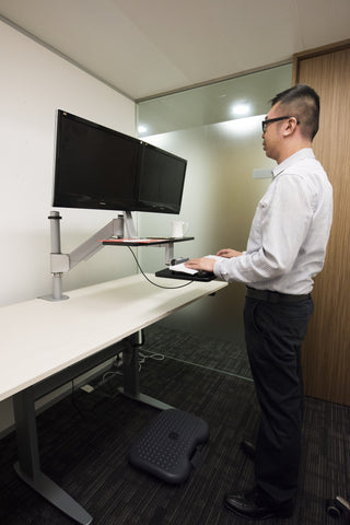 Sit Stand Riser Workstation Dual Monitor RW2