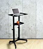 Mobile Laptop Desk Cart Height and Angle Adjustable Tilt Spliting Laptop Stand Table, LPC10