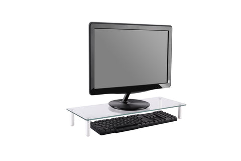 Glass Ergonomic Tabletop Riser/Desktop Stand for Computer Monitor, LCD LED TV, Monitor, Laptop/Notebook,