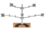 Five Monitor Stand (Freestanding with Premium Base) - (E5-FP)  - 2