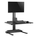 "Single 17""-32"" Monitor Mount Electric Ergonomic Height Adjustable Sit-Stand Desk Converter Workstation - Black (RTELVE-S)"