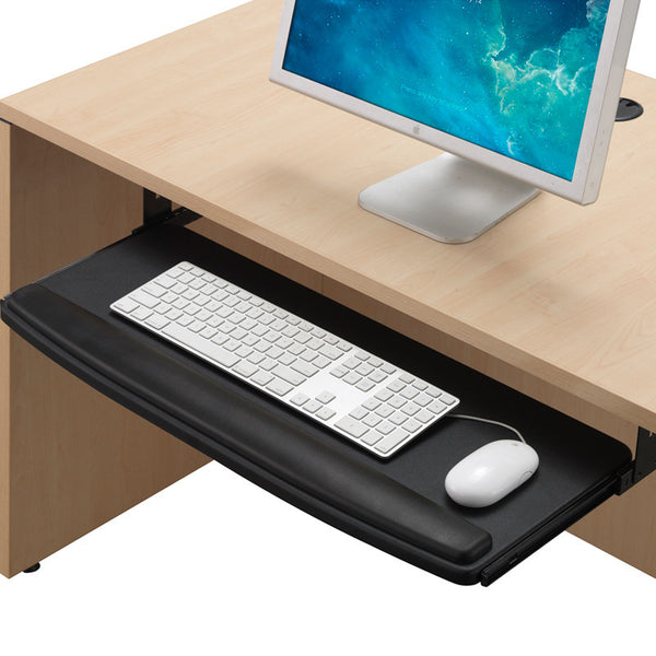 "Premium Extra Wide 28"" Pull-out Keyboard tray with Wrist Rest R46  - 1"