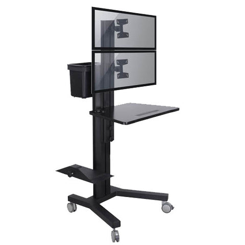 Dual Computer Mobile Cart (MCT09-a)  - 1