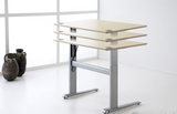 Wheeled Base 2-Leg Electric Height Adjustable  with Cable Tray (Conset Denmark Make)  - 4
