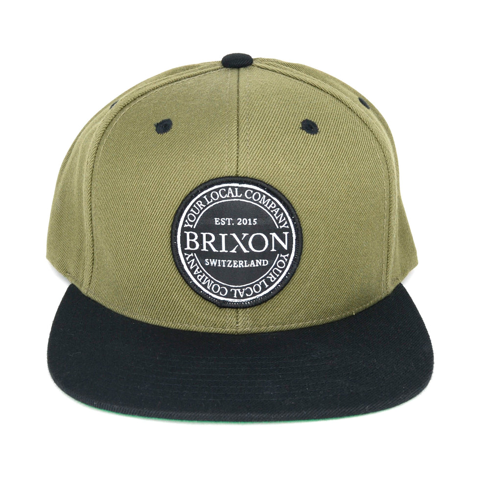 Snapback Simple Olive/Schwarz