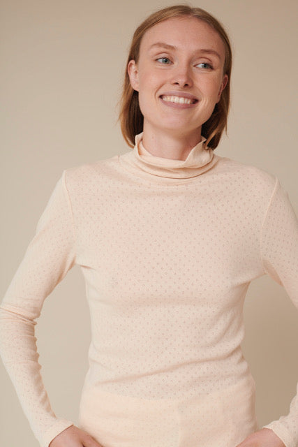 Basic Apparel Arense Roll neck - organic GOTS T-shirts 425 Sand Dollar