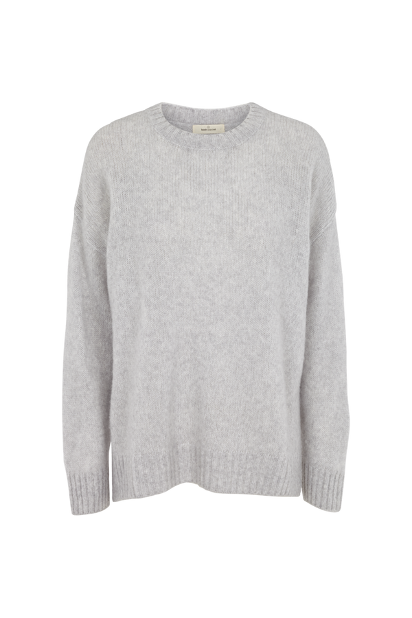Basic Apparel Marnie o-neck Sweaters 318 Light Grey Mel