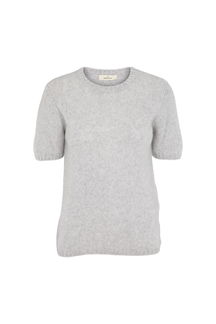 Basic Apparel Marnie tee T-shirts 318 Light Grey Mel
