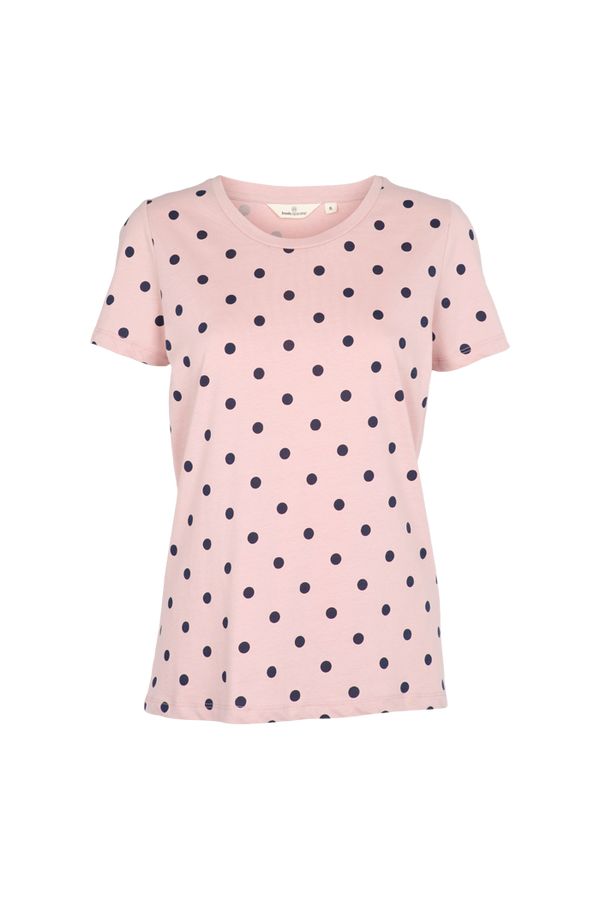 Basic Apparel Rebekka tee dot T-shirts 382 Dusty rose