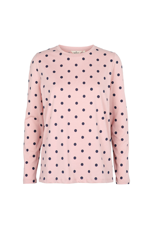 Basic Apparel Rikke long sleeve dot T-shirts 382 Dusty rose