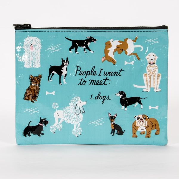 Zipper Purse - PEOPLE I WANT TO MEET: DOGS