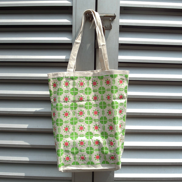 Peranakan Tote Bag - Green