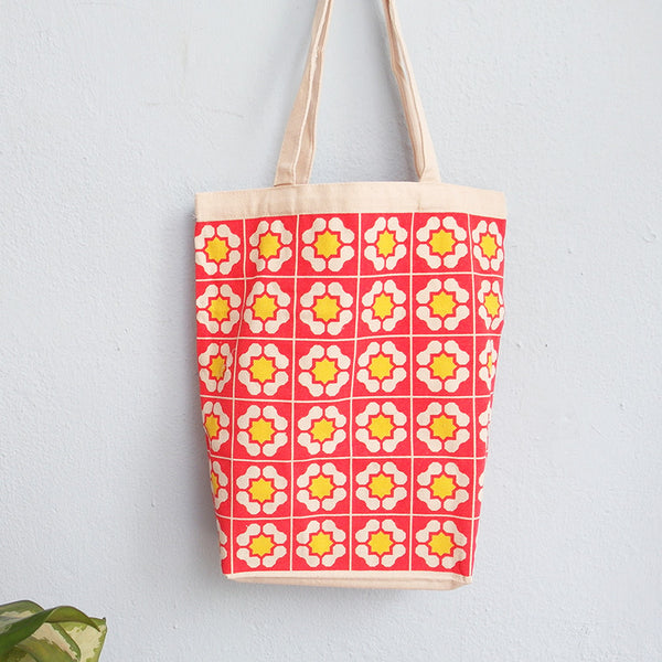 Peranakan Tote Bag - Red