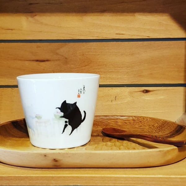Be More Cat Ceramic Tea cup