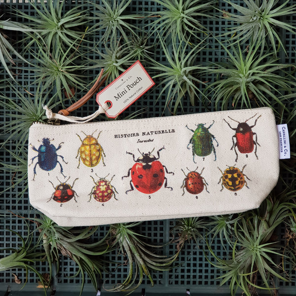 Vintage Mini Pouch -Insects