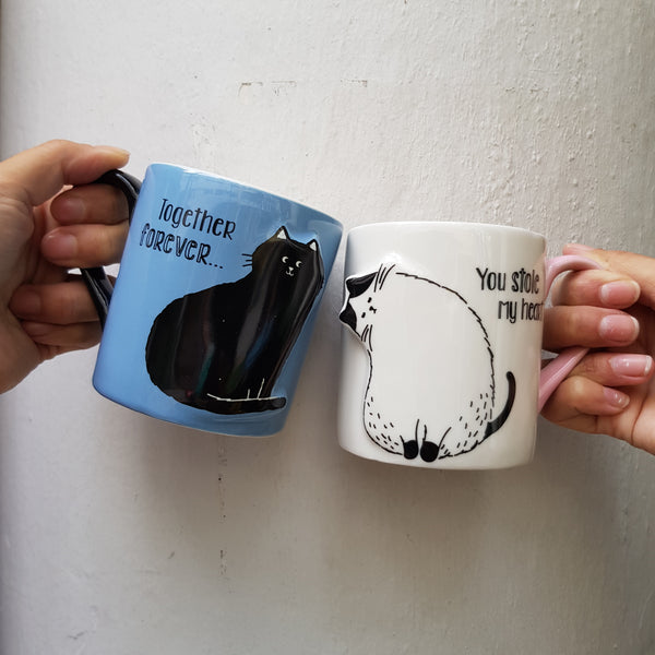 Cudding Cats mug set