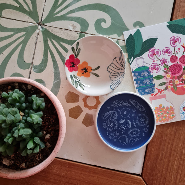Mini ceramic dish - flora
