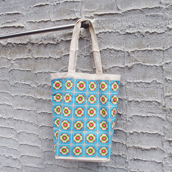 Peranakan Tote Bag - Blue