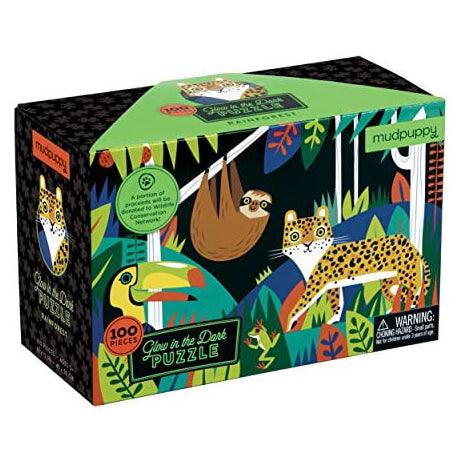 Rainforest Glow-in-The-Dark Puzzle 100 Pieces